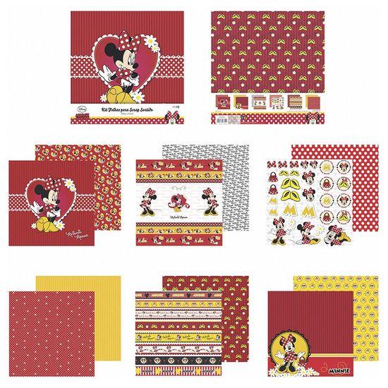 Kit-Papel-Scrapbook-Toke-e-Crie-SDFD131-Dupla-Face-305x305cm-com-12-Folhas-Sortidas-Disney-Minnie-Mouse