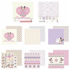 Kit-Papel-Scrapbook-Toke-e-Crie-SDFD133-Dupla-Face-305x305cm-com-12-Folhas-Sortidas-Disney-Baby-Minnie