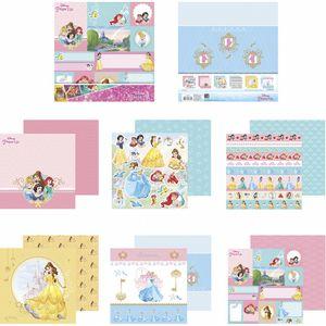 Kit-Papel-Scrapbook-Toke-e-Crie-SDFD137-Dupla-Face-305x305cm-com-12-Folhas-Sortidas-Disney-Princesas