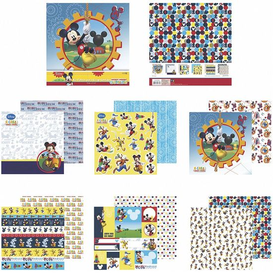 Kit-Papel-Scrapbook-Toke-e-Crie-SDFD139-Dupla-Face-305x305cm-com-12-Folhas-Sortidas-Disney-A-Casa-do-Mickey-Mouse