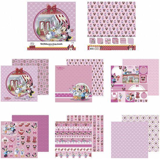 Kit-Papel-Scrapbook-Toke-e-Crie-SDFD140-Dupla-Face-305x305cm-com-12-Folhas-Sortidas-Disney-Hora-do-Cha-com-a-Minnie