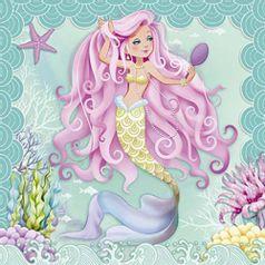Papel-Decoupage-Adesiva-Litoarte-DAXV-076-15x15cm-Sereia-com-Cabelo-Rosa-e-Espelho