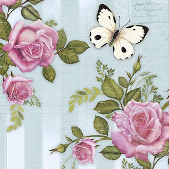 Papel-Decoupage-Adesiva-Litoarte-DAXV-043-15x15cm-Rosas-e-Borboletas