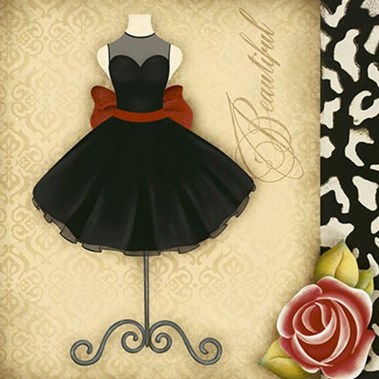 Papel-Decoupage-Adesiva-Litoarte-DAX-136-10x10cm-Vestido-Vintage