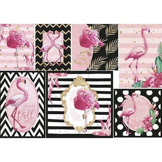Papel-Decoupage-Litoarte-PD-945-343x49cm-Flamingo