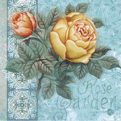 Papel-Decoupage-Arte-Francesa-Litoarte-AFQ-314-21x21cm-Rosas-Amarela-e-Laranja