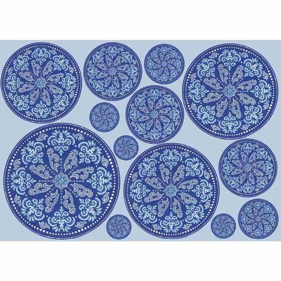 Papel-Decoupage-Litocart-LD-893-34x48cm-Mandala-Azul