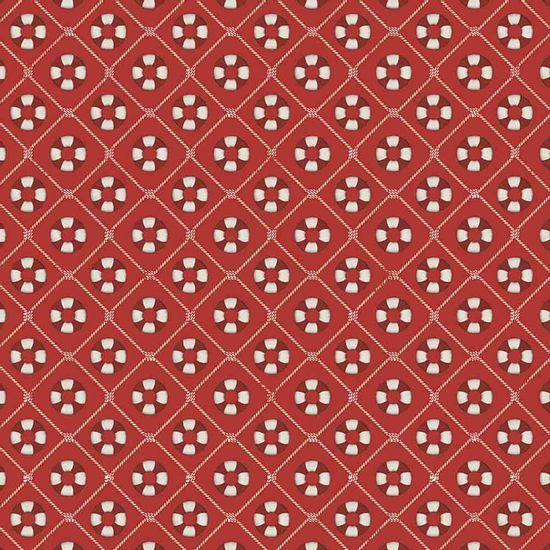 Papel-Scrapbook-Litocart-LSC-338-Simples-305x305cm-Boias-Salva-Vidas-com-Fundo-Vermelho
