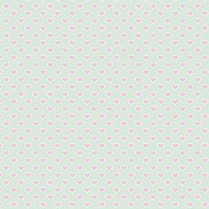 Papel-Scrapbook-Litocart-LSC-335-Simples-305x305cm-Coracoes-Rosas-com-Fundo-Verde
