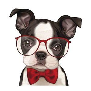 Aplique-MDF-Decoupage-Litocart-LMAM-052-em-Papel-e-MDF-7x7cm-Cachorro-de-Oculos
