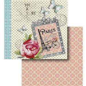 Papel-Scrapbook-Litocart-LSCD-424-Dupla-Face-305x305cm-Paris