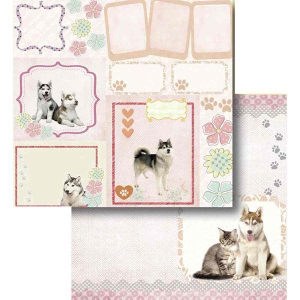 Papel-Scrapbook-Litocart-LSCD-421-Dupla-Face-305x305cm-Tags-Cachorro