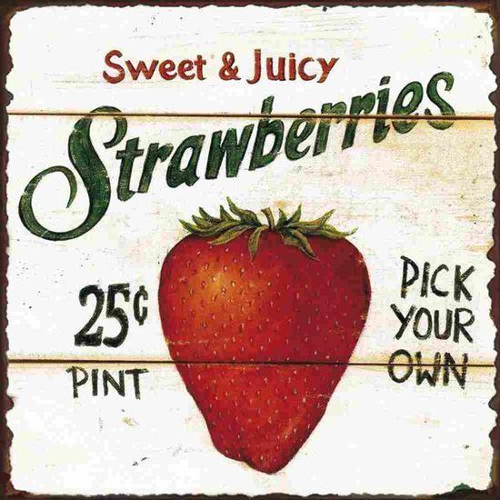 Placa-Decorativa-Litocart-LPQC-053-25x25cm-Strawberries