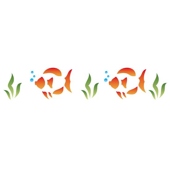 Stencil-Opa-10x30cm-para-Pintura-Simples-OPA043-Peixes