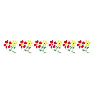 Stencil-Opa-4x30cm-para-Pintura-Simples-OPA102-Flores-Ramos