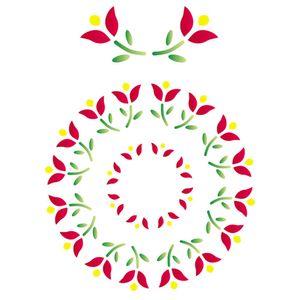 Stencil-Opa-15x20cm-para-Pintura-Simples-OPA169-Mandala-Flor-I