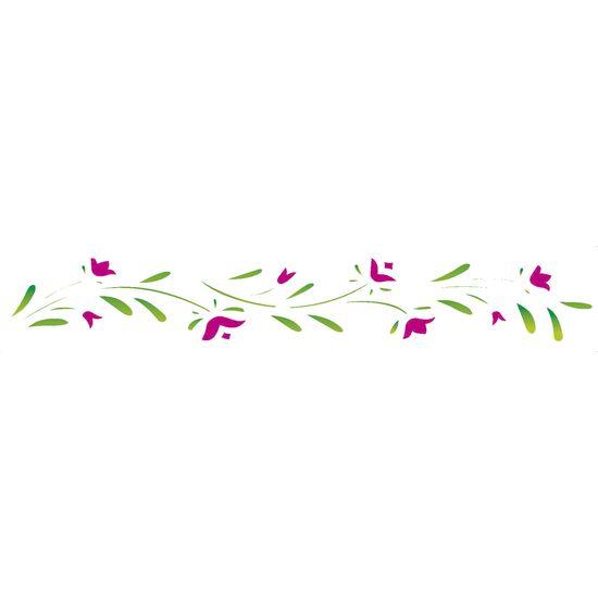 Stencil-Opa-4x30cm-para-Pintura-Simples-OPA195-Flores-Papoulas