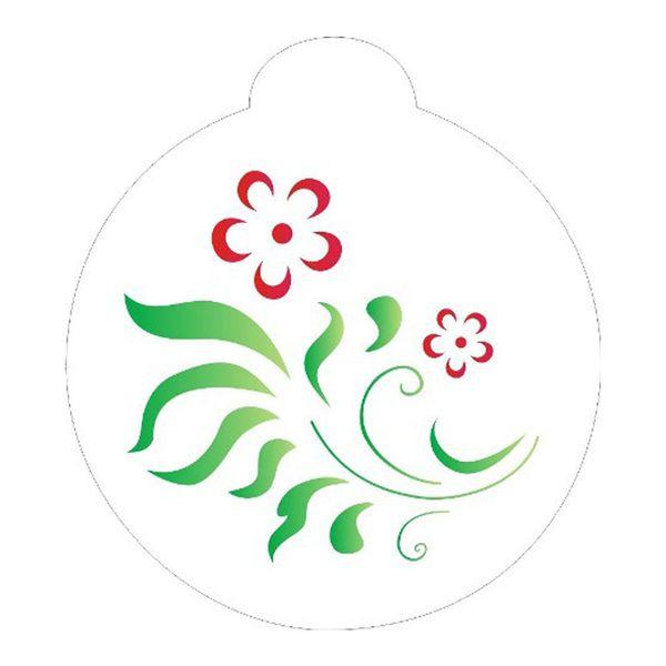 Stencil-Opa-10x10cm-para-Pintura-Simples-OPA833-Arabesco-e-Flor