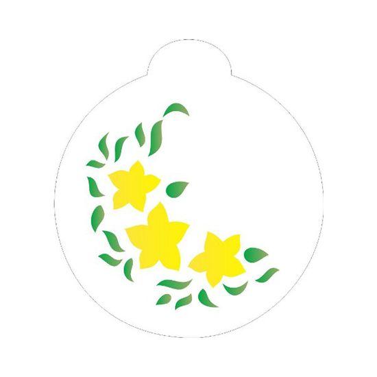 Stencil-Opa-10x10cm-para-Pintura-Simples-OPA834-Cantoneira-Flor-Estrela