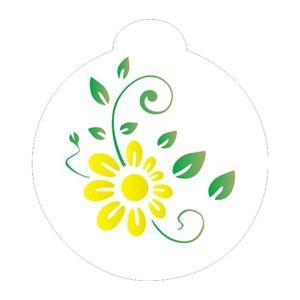 Stencil-Opa-10x10cm-para-Pintura-Simples-OPA846-Flor-Girassol