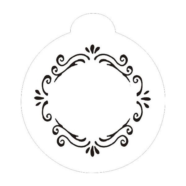 Stencil-Opa-10x10cm-para-Pintura-Simples-OPA848-Moldura-Arabesco