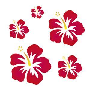 Stencil-Opa-20x25cm-para-Pintura-Simples-OPA919-Flores-Hibiscos-I