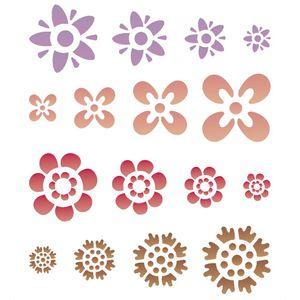 Stencil-Opa-20x25cm-para-Pintura-Simples-OPA1092-Flores-Diversas