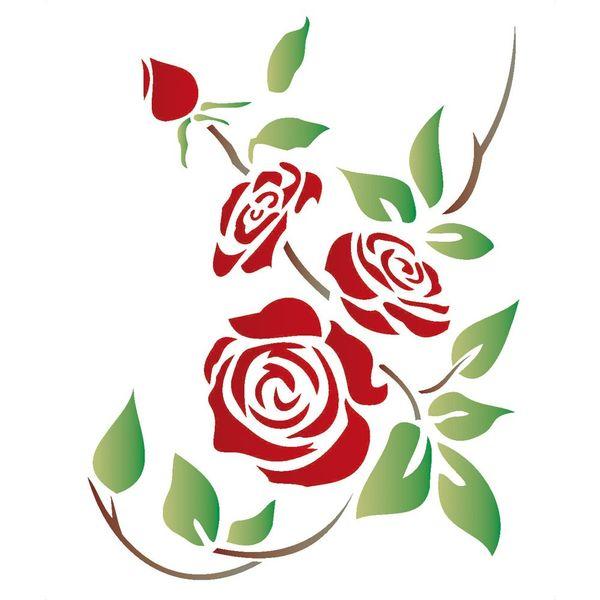 Stencil-Opa-20x25cm-para-Pintura-Simples-OPA1168-Flores-Rosa
