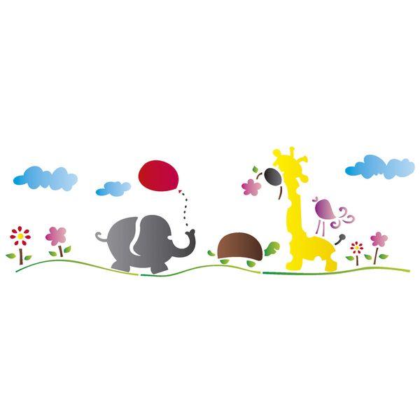 Stencil-Opa-17x42cm-para-Pintura-Simples-OPA1224-Bichos-no-Campo
