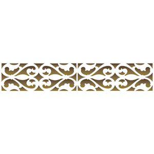 Stencil-Opa-6x30cm-para-Pintura-Simples-OPA802-Arabesco-Medieval-I
