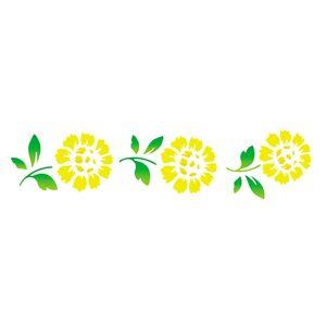 Stencil-Opa-6x30cm-para-Pintura-Simples-OPA806-Flores-Girassois