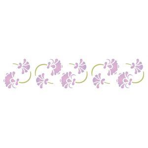 Stencil-Opa-6x30cm-para-Pintura-Simples-OPA1073-Arabesco-Floral