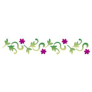 Stencil-Opa-6x30cm-para-Pintura-Simples-OPA1126-Folhas-e-Flores