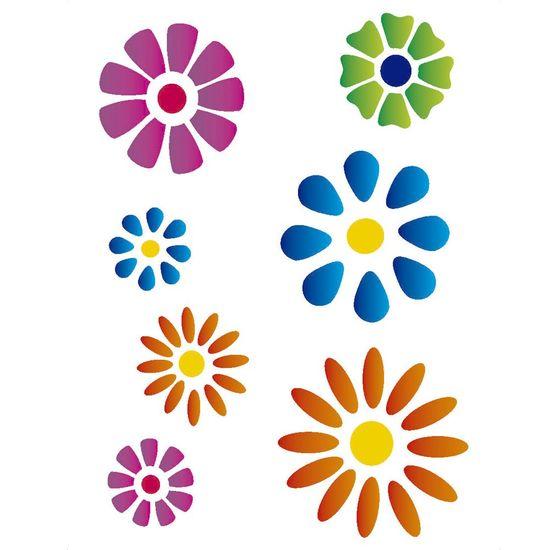Stencil-Opa-15x20cm-para-Pintura-Simples-OPA298-Flores-Diversas