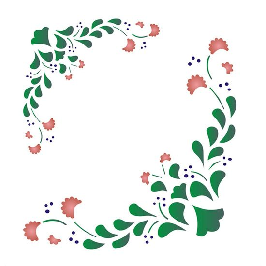 Stencil-Opa-15x20cm-para-Pintura-Simples-OPA1043-Cantoneira-Flores
