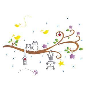 Stencil-Opa-15x20cm-para-Pintura-Simples-OPA1209-Bichos-Arvore