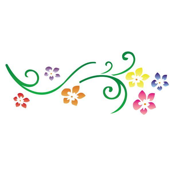Stencil-Opa-10x30cm-para-Pintura-Simples-OPA344-Flores-Primavera