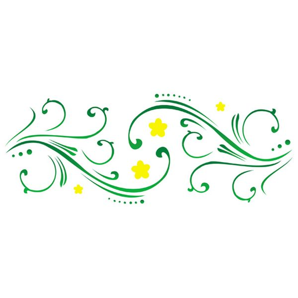 Stencil-Opa-10x30cm-para-Pintura-Simples-OPA389-Ramo-Flor-I