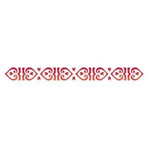 Stencil-Opa-4x30cm-para-Pintura-Simples-OPA449-Borda-Coracao