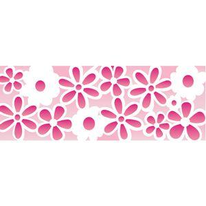 Stencil-Opa-10x30cm-para-Pintura-Simples-OPA494-Estampa-Flores-II