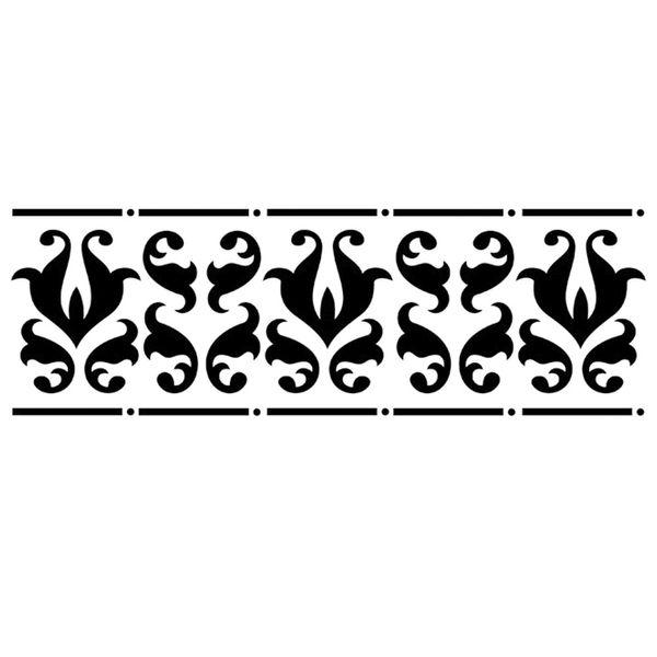Stencil-Opa-10x30cm-para-Pintura-Simples-OPA726-Border-Arabesco