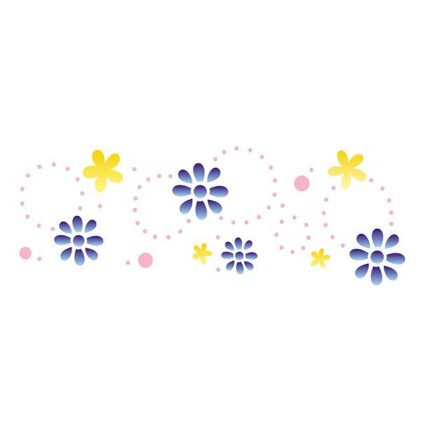 Stencil-Opa-10x30cm-para-Pintura-Simples-OPA733-Flores-Delicadas