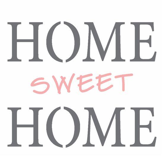 Stencil-Opa-14x14cm-para-Pintura-Simples-OPA2337-Frase-Home-Sweet-Home