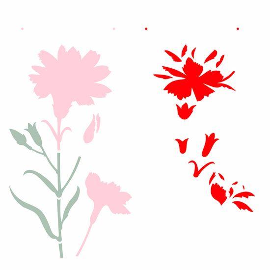 Stencil-Opa-305x305cm-para-Pintura-Simples-OPA2369-Flor-Cravo