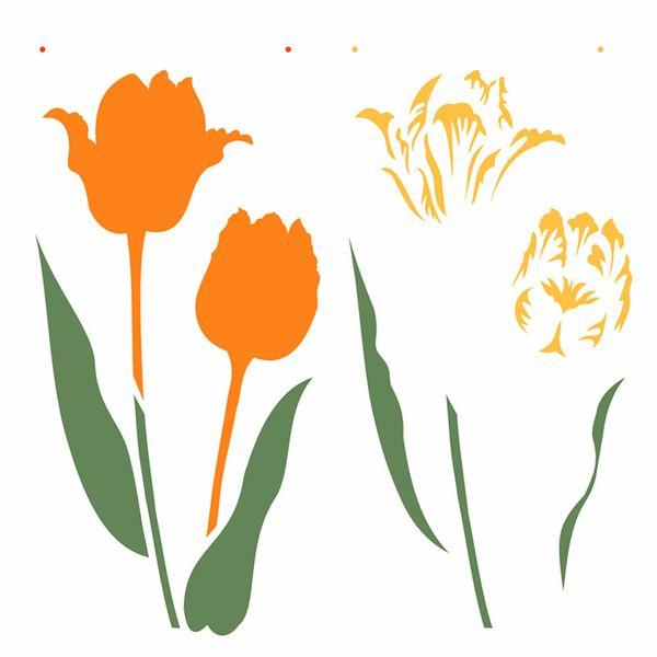 Stencil-Opa-305x305cm-para-Pintura-Simples-OPA2371-Flor-Tulipa