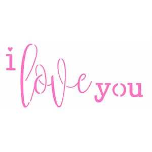Stencil-Opa-7x15cm-para-Pintura-Simples-OPA2323-Frase-I-Love-You
