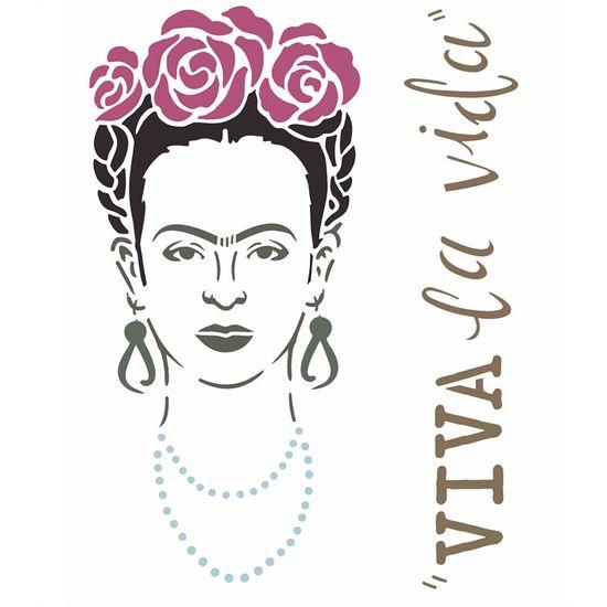 Stencil Opa 20x25cm Pintura Simples Opa2361 Frida Palaciodaarte