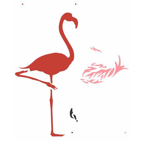 Stencil-Opa-20x25cm-para-Pintura-Simples-OPA2359-Flamingo