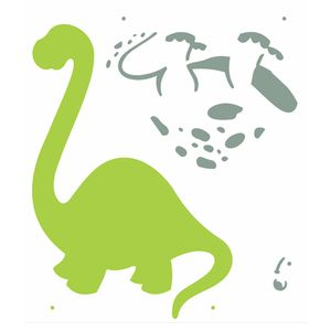 Stencil-Opa-20x25cm-para-Pintura-Simples-OPA2358-Dinossauro-II