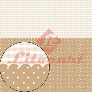 Papel-Scrapbook-Litocart-LSC-200-Simples-305x305cm-Poa-e-Xadrez-Marrom-e-Branco